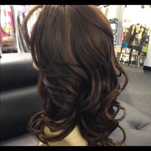 Accessories - Brown Romance curls wig Swisslace Lacefront 2019